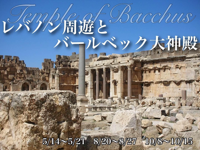 レバノン周遊とバールベック大神殿の旅【8日間】