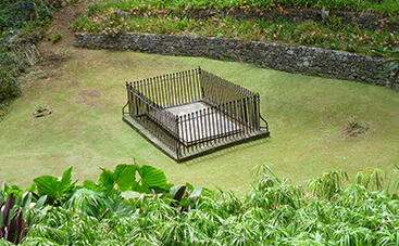 ナポレオンが埋葬された墓所